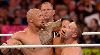 The Rock and Cena are preparing to lock up for a second time in two years. Photo Courtesy of WWE.com
