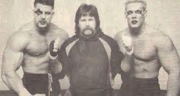 Photo by Edde GIlbert (Dutch Mantell with two future legends Sting and Ultimate Warrior)