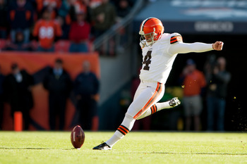 Browns kicker (for now) Phil Dawson