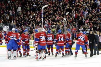 The Habs salute their fans at the end of the 2011-12 season.