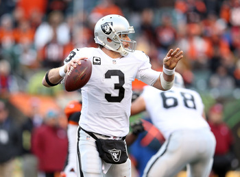 Carson Palmer could be shown the door as Oakland struggles with cap issues.
