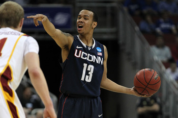 Shabazz Napier is one of four Huskies currently averaging double digits in scoring.