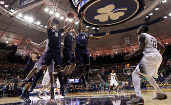 Connecticut knocked off Notre Dame on the road.