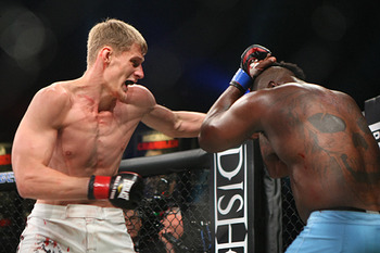 Alexander Volkov is a solid heavyweight prospect, and he is the current heavyweight champ. Photo c/o Sherdog.com.