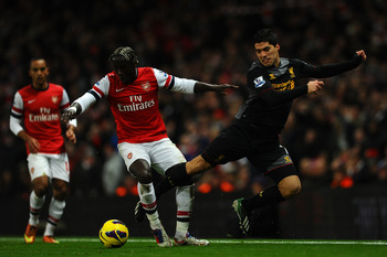 Sagna with a &quot;movie star&quot;, Luis Suarez