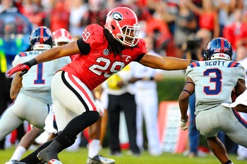 Jarvis Jones has been linked to the Bills at No. 8 in mock drafts.