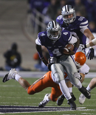 K-State's QB Daniel Sams will compete with Jake Waters for the starting job in 2013.