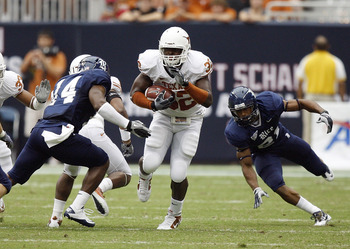 Traylon Shead at Texas in 2010.