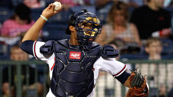 Christian Bethancourt has unbelievable defensive tools. Unfortunately you have to hit a little bit to stick in the big leagues. Courtesy of Mississippi Braves (h/t MiLB.com)