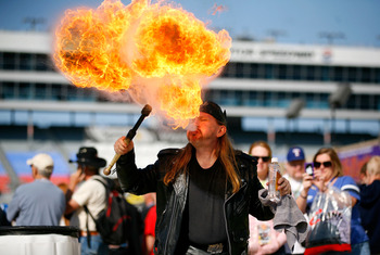 Things can get kinda hot at Texas Motor Speedway!