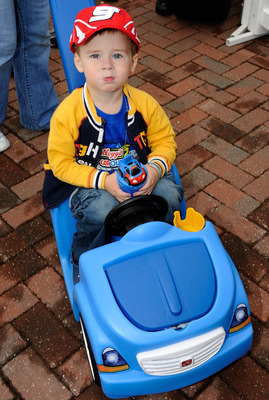 This young fan is preparing for his first start in the 2033 Daytona 500.