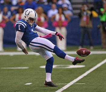 Keeping punter Pat McAfee will be a priority for the Colts