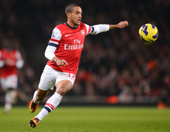 Theo Walcott must have a dead-eye in front of goal