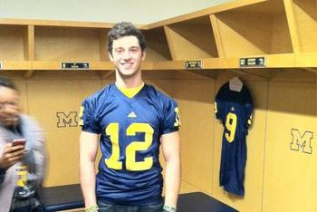 Did Shane Morris make the Big Ten's top spot as a 2013 QB? (photo via UMGoBlue.com)