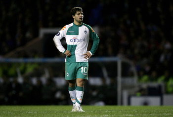 Diego playing for former club Werder