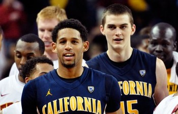 Allen Crabbe (front) and David Kravish (back). MICHAEL GETHERS/FILE