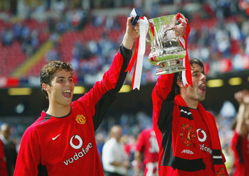 Look who celebrated United's last FA Cup victory in 2004