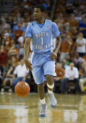 AUSTIN, TX - DECEMBER 19:  Dexter Strickland #1 of the University of North Carolina Tar Heels brings the ball up the court against the University of Texas Longhorns on December 19, 2012 at the Frank Erwin Center in Austin, Texas.  (Photo by Cooper Neill/G
