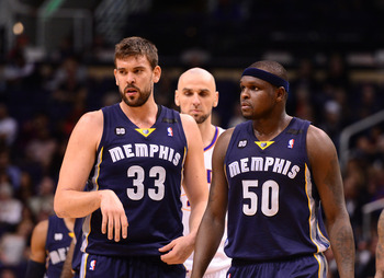 Memphis Grizzlies' Marc Gasol, Zach Randolph