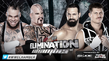 Brodus Clay and Tensai vs. Team Rhodes Scholars (Courtesy of WWE.com)