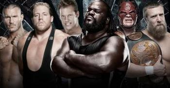 Number One Contender's Elimination Chamber Match for the World Heavyweight Championship (Courtesy of WWE.com)