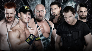 John Cena, Sheamus and Ryback vs. The Shield (Courtesy of WWE.com)