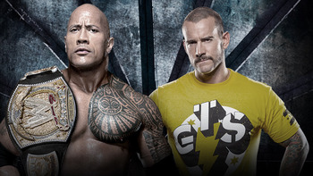 The Rock vs. CM Punk. (Courtesy of WWE.com)