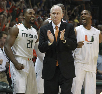 Miami head coach  Jim Larranaga. CHARLES TRAINOR JR / MIAMI HERALD STAFF