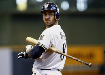 Ryan Braun put up MVP numbers again in 2012, but came in second to Buster Posey.