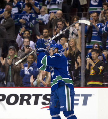 A two-assist night propelled Henrik Sedin to the top of the Canucks' all-time scoring list.