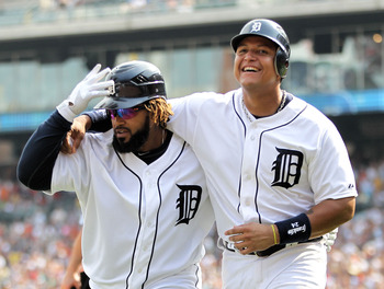 1B Prince Fielder and 3B Miguel Cabrera