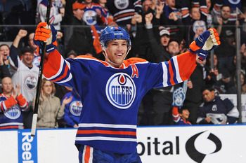 Taylor Hall plays with a certain physical edge and could one day blossom into the leader that Mark Messier was for the Oilers.