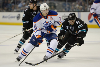 Like Jarri Kuri, Jordan Eberle combines skill and speed for a potent offensive attack.