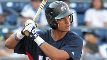 Albert Almora, last year's top pick, is far more advanced than a typical high school player. Courtesy of USA Baseball (h/t MiLB.com)