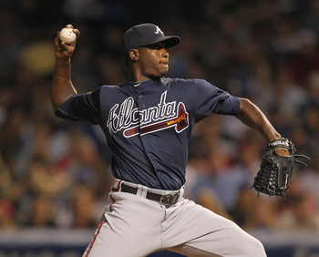 Arodys Vizcaino's second major league appearance came against the Chicago Cubs in 2011. He will soon be part of the team's rebuilding efforts.