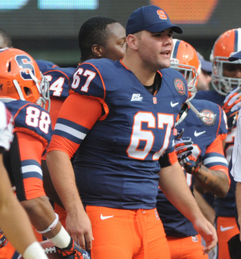 Doug Marrone is very familiar with Justin Pugh. Photo Credit: syracuse.com