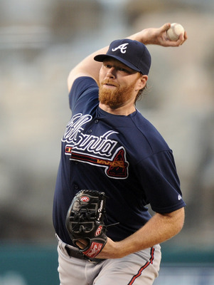 Hanson pitching against the Angels in May 2011.