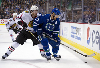Duncan Keith drew the wrath of Canucks fans after injuring Daniel Sedin in 2012.