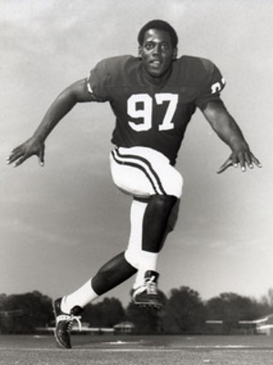 John Mitchell, the first black football player to appear in a game for the Alabama Crimson Tide. (Photo: AP)