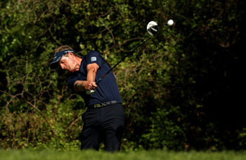 Luke Donald didn't get a lot of distance off the tee this week.