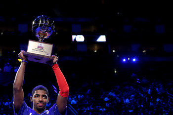 Irving showed his smooth stroke in the Three-Point Contest