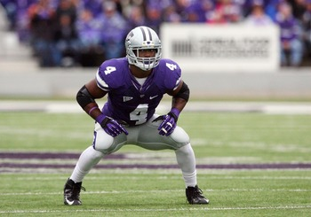 Oct 6, 2012; Manhattan, KS, USA; Kansas State Wildcats linebacker Arthur Brown (4) during a game against the Kansas Jayhawks at Bill Snyder Family Stadium. Mandatory Credit: Scott Sewell-USA TODAY Sports