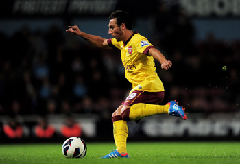 Arsenal will look to find Cazorla between the lines