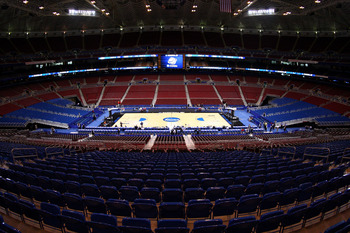 Edward Jones Dome before NCAA tournament games