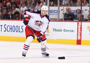 Fedor Tyutin leads the Blue Jackets with only 10 points.