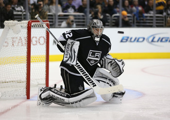 Jonathan Quick is one of many players on L.A. who's experiencing a cup hangover.