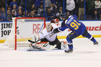 Vladimir Tarasenko is tied for the league lead among rookies with six goals.