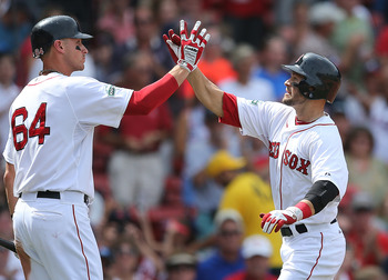 Will Middlebrooks (L) made a big impact as a rookie in Boston.