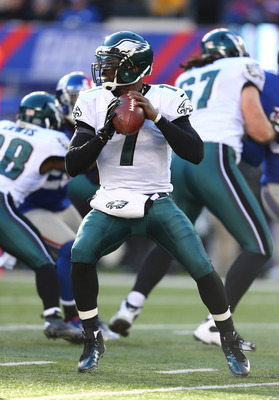 Eagle starting quarterback Michael Vick.