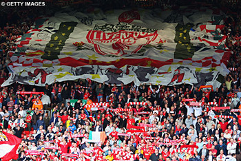 The crowd at Anfield will be like a 12th man for the Reds - Image courtesy of Getty Images and dailymail.co.uk